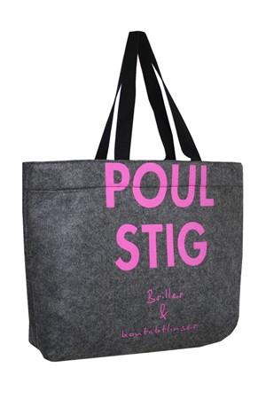 14432612da3 Poul Stig filt taske med logo
